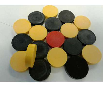 Carrom Board Acrylic Coins is a Black, White, Yellow Indoor Games for Sale in Glendale Heights IL