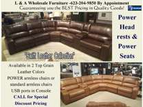 SWIFT Power Reclining Sectional – Sofa –Loveseat with Power Headrests –