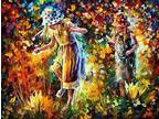 Details about �Two Sisters Oil Painting On Canvas By Leonid Afremov FREE FAST