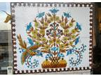 Handpainted tile plaque 27 3/4 x 33 inches