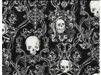 Skull Patterned Crib Bumpers $