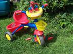 Slightly used SPIDERMAN tricycle trike w/ lights and sounds