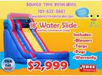 18' Tall 30' Long Inflatable Water Slide with Fully Inflated Bottom fo -