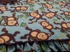 Monkey Crib/Toddler Bed Double