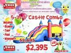 5-1 3D Fortress Industrial Inflatable Combination Jump Home [phone removed] Ca