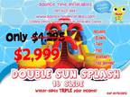 16' Commercial Inflatable Double Lane Water Slide