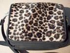 Cheetah Print & Black Shoulder