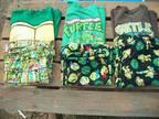 Character Pajamas 5 2-piece sets Sizes L-2XL Ninja Turtles & Star Wars