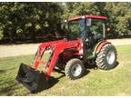 Mahindra 3616 4x4 tractor/loader with full cab a/c and heat - $23550 (Red Bluff)