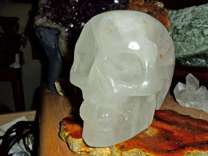 Exceptional and Beautiful Large Natural Crystal Skull Carving