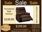 Transitional Style Recliner (A