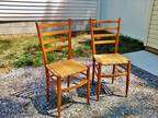 Two Antique cane-bottom chairs in excellent condition
