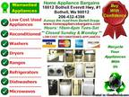 Low Cost Used Reconditioned Appliances with Warranty *