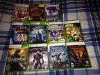 lots of xbox360 games , ps and ps2 also -