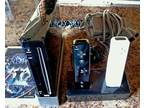 Wii Black Console - 4 Games - 2 Controllers - Dock - Sensor Bar