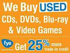 Sell Your CDs, DVDs, Blu-rays, Video Games, and Vinyl at FYE