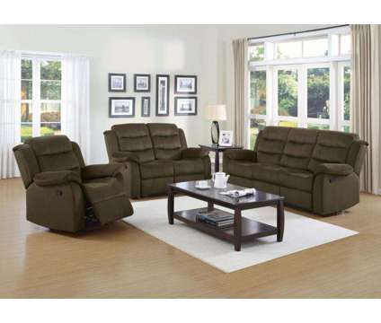2 PC Reclining Sofa Set Sofa & Loveseat is a Green Sofas for Sale in Chicago IL
