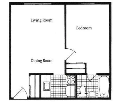 1 Bed - Clintonville Commons at 4030 N High St #14 in Columbus OH is a Apartment