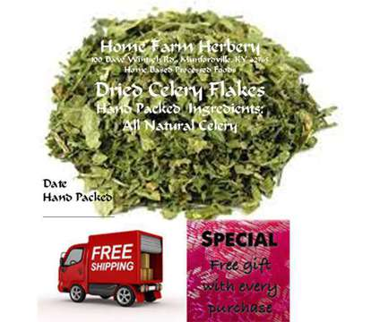 Order now! The best Organic Dried Celery Flakes you can buy & get a free gift & is a Food & Produces for Sale in Munfordville KY