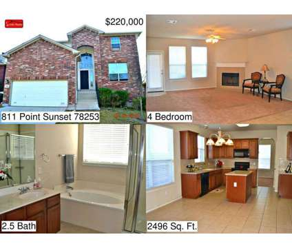 811 Point Sunset - Home for Rent in San Antonio, TX 78253 at 811 Point Sunset in San Antonio TX is a Single-Family Home