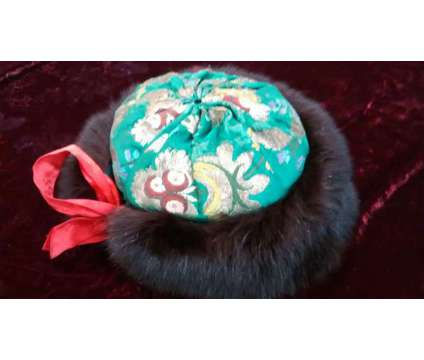 Nepalese Genuine Mink and Silk Fur Hat (Hand Made) is a Brown Accessories for Sale in Manhattan NY