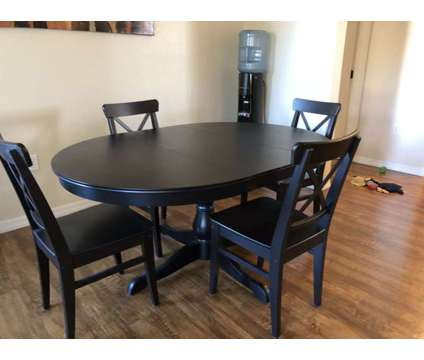 Expandable Dining Room Table is a Black Tables & Stands for Sale in Tempe AZ