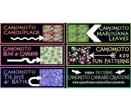 Ad 4 Cannabis art fabric is a Artworks for Sale in Willits CA