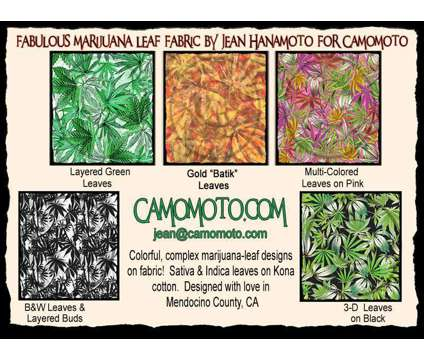 Ad 4 Cannabis art on fabric and paper is a Artworks for Sale in Willits CA