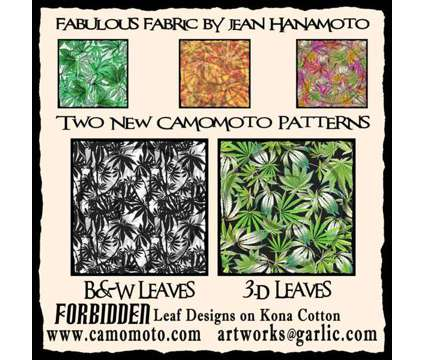 Fabric art using a theme I can't say, but is leaves and buds and stems and seeds is a Artworks for Sale in Willits CA