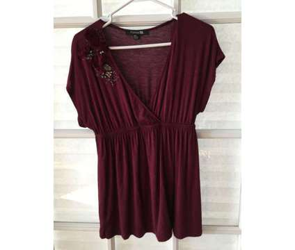 Burgundy Dressy Top is a Shirts & Tops for Sale in Wescosville PA