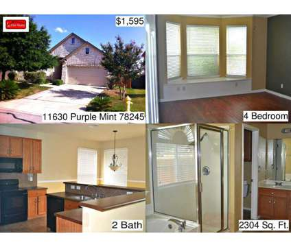 11630 Purple Mint - Home for Rent 4/2/2 in San Antonio, TX 78245 at 11630 Purple Mint in San Antonio TX is a Home