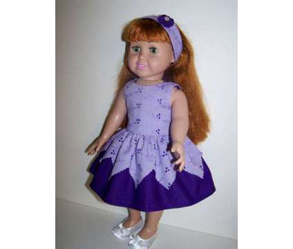 Doll Dress and Headband for 18 inch doll such as American Girl dolls is a Purple Everything Else for Sale in Glendale AZ