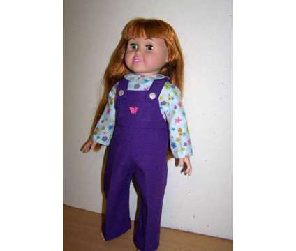 Doll Overalls and Shirt for 18 inch doll such as American Girl dolls is a Purple Everything Else for Sale in Glendale AZ