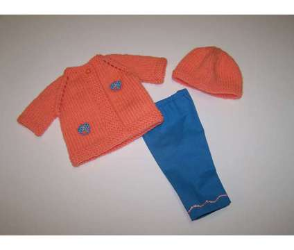 Doll Sweater, Hat and Pants for 18 inch doll such as American Girl dolls is a Everything Else for Sale in Glendale AZ