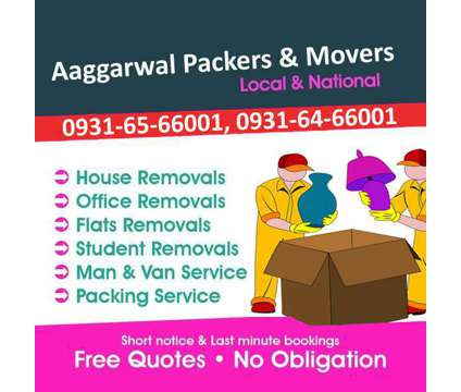 Aaggarwal Packers and Movers in Hisar - Fast and Friendly Services is a Moving service in Hissar HR