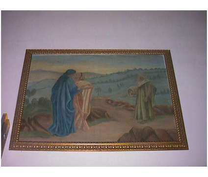 """Very old Painting by Manley """"Christian Scene"""" is a Artworks for Sale in Valparaiso FL"""