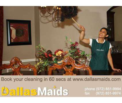 "Dallas Maids, Voted ""Best House Cleaning"" in Dallas is a Home Cleaning & Maid Services service in Dallas TX"