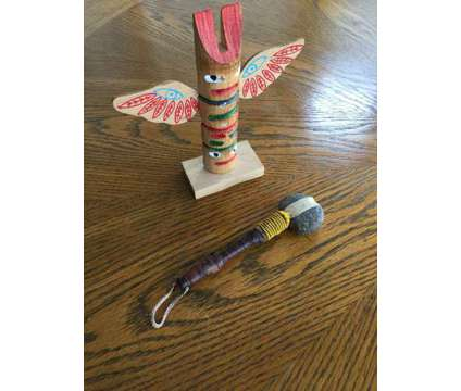Stone Tomahawk/Totem Pole is a Collectibles for Sale in Wescosville PA