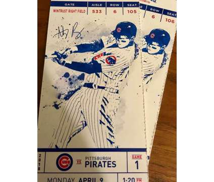 Cubs Home Opener is a mlb_chc Baseball Ticket on Apr 9 in Chicago IL