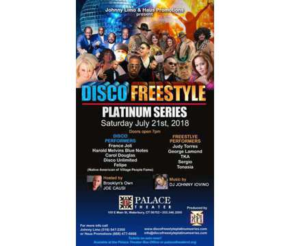 Tickets For Disco & Freestyle Concert Event is a Concert Ticket in Freeport NY