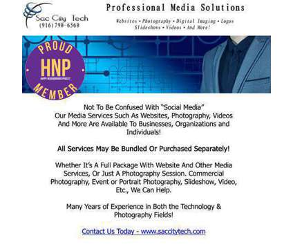 Professional Media Solutions is a Creative Services service in Citrus Heights CA