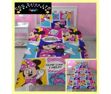 Official Disney Minnie Mouse Reversible Single Duvet Bedding Set is a Kid's Beddings for Sale in Sebastopol TOF