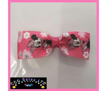 Handmade Disney Minnie Mouse Pink Hairclip Hair Accessory is a Pink Baby Grooming, Bathing, and Feedings for Sale in Sebastopol TOF
