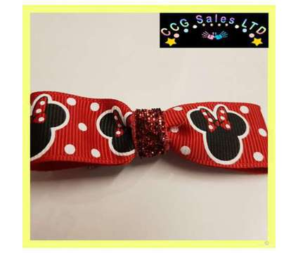 Handmade Disney Minnie Mouse Red Hairclip Hair Accessory is a Red Baby Grooming, Bathing, and Feedings for Sale in Sebastopol TOF