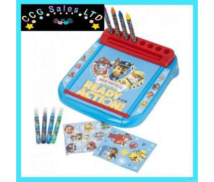Official Paw Patrol Chase Marshall and Rubble Deluxe Roll and go Art Desk is a Toys for Sale in Sebastopol TOF