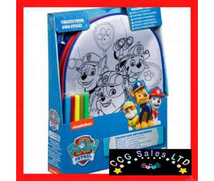 Official Paw Patrol Colour Your Own Backpack & 5 Colour Pens is a Toys for Sale in Sebastopol TOF