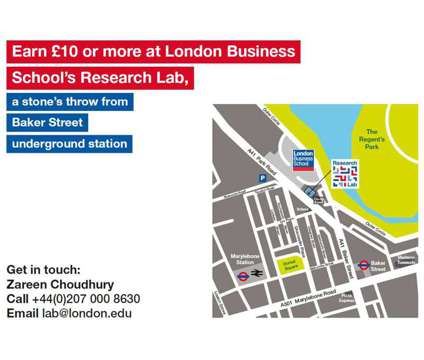Earn £10 in under an hour participating in behavioural research is a Earn in under an Hour in Research Job in London LND