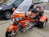 Orange 2002 Honda Gold Wing 1800