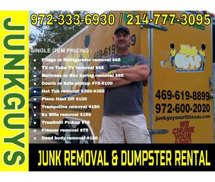 Garage Clean Outs Frisco Texas is a Removal of Junk or Building Materials service in Dallas TX