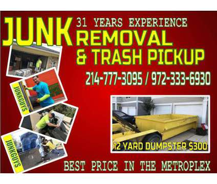 Fridge and Appliance Removal $45 is a Removal of Junk or Building Materials service in Dallas TX
